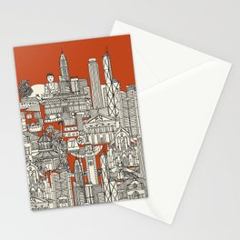 Hong Kong toile de jouy Stationery Cards