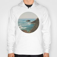 oregon Hoodies featuring Oregon Coast by Leah Flores