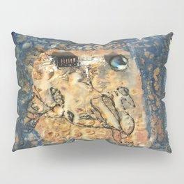 Nemesis - Mixed Media Beeswax Encaustic Abstract Modern Art, 2015 Pillow Sham