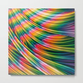 Strain Wave III. Tie-Dye Metal Print