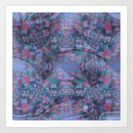 Silk Brocade Texture in Deep Lavender Art Print