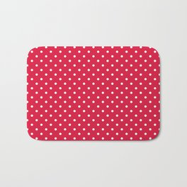 Dots (White/Crimson) Bath Mat