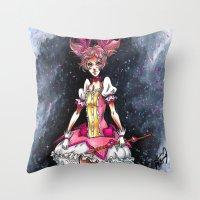 madoka Throw Pillows featuring Madoka Magica by Refrigerator-Art