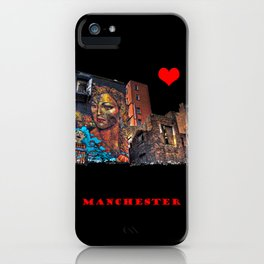 Colourful MANchester iPhone Case