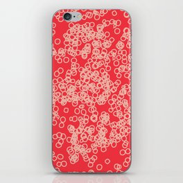 pink circles iPhone Skin