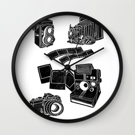 Weapons Of Mass creation - Photography (block print) Wall Clock