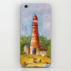 Red Lighthouse iPhone & iPod Skin