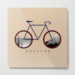 Cycle the World Metal Print