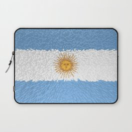 Extruded Flag of Argentina Laptop Sleeve