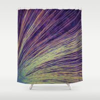 fireworks Shower Curtains featuring Fireworks by Françoise Reina