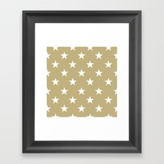 Stars (White/Sand) Framed Art Print