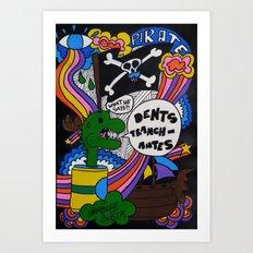 Dents Tranchantes Art Print
