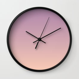 Sunset Gradient Purple Pink Peach Coral Wall Clock