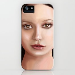 Summer Glau - The girl with the beautiful face iPhone Case