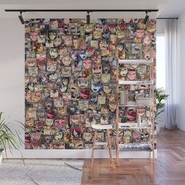 Anime angry faces Wall Mural