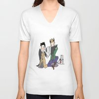 destiel V-neck T-shirts featuring Holy Hell Destiel - SPN by venuscas