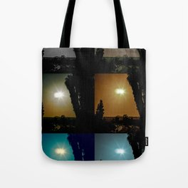Ecliptical sun over Hollywood, CA Tote Bag