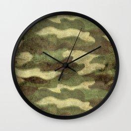 Dirty Camo Wall Clock