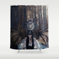 dragons Shower Curtains featuring Dragons by StarsColdNight