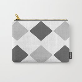 Grey Diamonds Carry-All Pouch