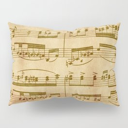 Vintage Sheet Music Pillow Sham