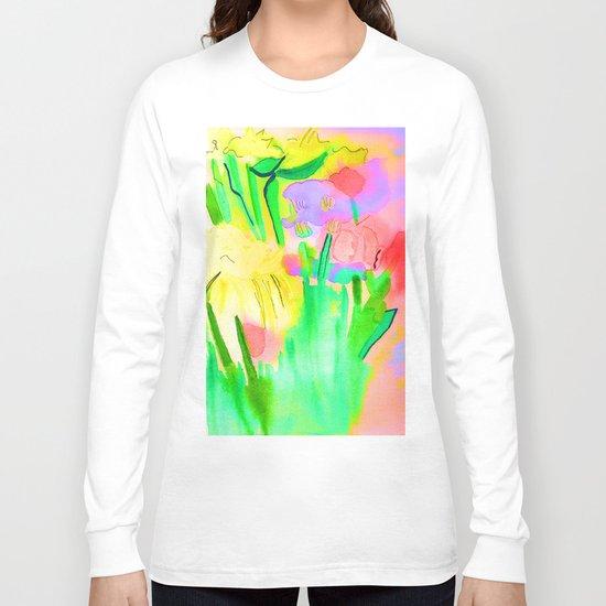 Flowers Sparkle  Long Sleeve T-shirt