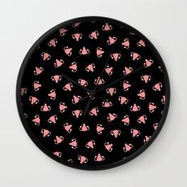 Crazy Happy Uterus in Black, Small Wall Clock