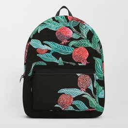Persephone- Pomegranate Tree on Black Backpack