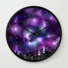 Starry Skyline Neck Gator Galaxy Skyline Wall Clock