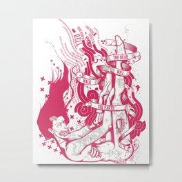 DAWNOFTHEDEAD.PINK Metal Print