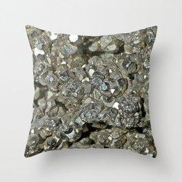 Pyrite Geode Throw Pillow
