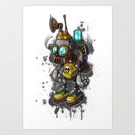 Robot Kid Art Print