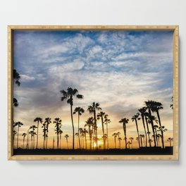 Palm Tree Love (blue and orange) Serving Tray