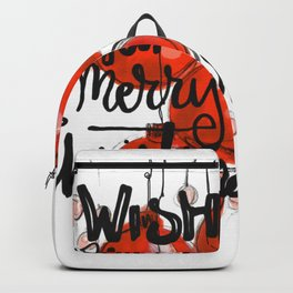 I wish you a merry Christmas Backpack