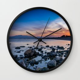 Playazo de Villaricos Sunset Wall Clock