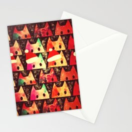 Cats Christmas ver-198 Stationery Cards
