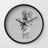 deadmau5 Wall Clocks featuring mau5 by HiddenStash Art
