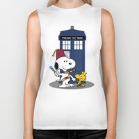 snoopy Biker Tanks featuring Snoopy Who by plasticdoughnut