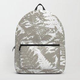 Gray Ferns Photo Art Print Pattern Backpack