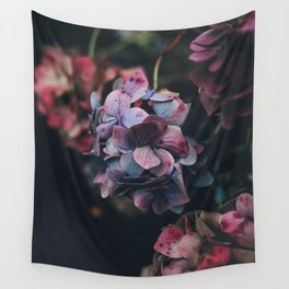 FLOWERS - FLORAL - PINK - RED - PHOTOGRAPHY Wall Tapestry