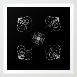 Silver Embossed Corners Art Print