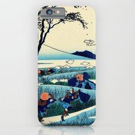 Mt,FUJI36view-Sunshu Ejiri - Katsushika Hokusai iPhone Case