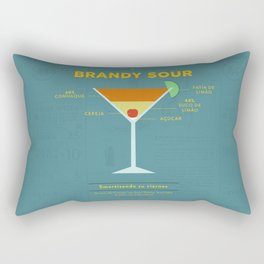 Brandy Sour - Cocktail by Smart Diseños Rectangular Pillow