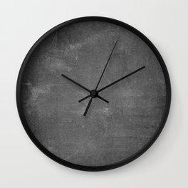 Gray and White School Chalk Board Wall Clock