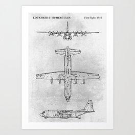 LOCKHEED C-130 HERCULES Art Print