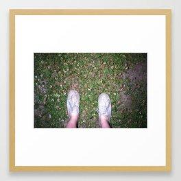 Flowers and Feet Framed Art Print