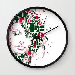 Sophia Loren Typographic Image Wall Clock