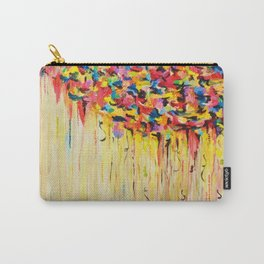 OPPOSITES LOVE Raining Sunshine - Bold Bright Sunny Colorful Rain Storm Abstract Acrylic Painting Carry-All Pouch