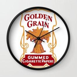 GOLDEN GRAIN rolling papers Wall Clock