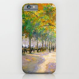 Hyde Park London 1890 By Camille Pissarro | Reproduction | Impressionism Painter iPhone Case